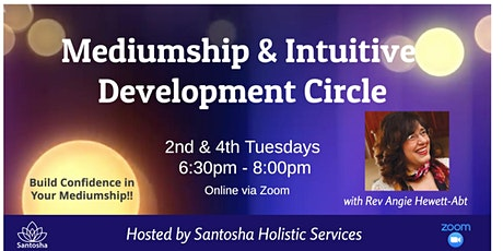 Zoom: Intuitive Development- Confidence in Your Mediumship Skills tickets