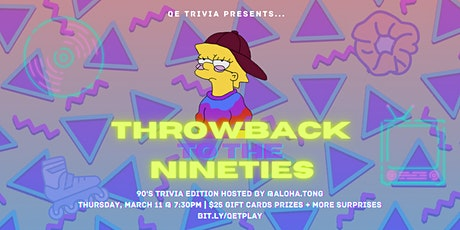 QE Trivia 049: Nineties Throwback Trivia (90s Pop Culture Virtual Pub Quiz) tickets