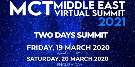 MCT Summit 2021 Middle East billets