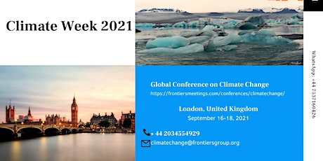 Climate Week 2021 London UK tickets
