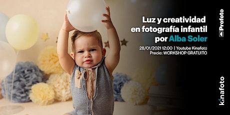 Workshop Alba Soler: Luz y creatividad en fotografía infantil y de familia entradas