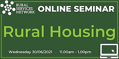 RSN Seminar: Rural Housing tickets