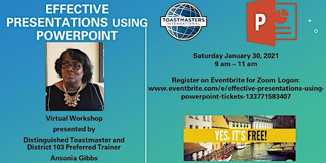 Effective Presentations Using Powerpoint tickets