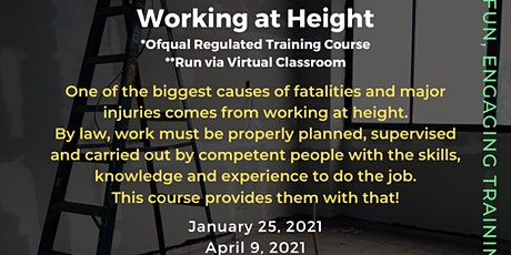 QA Level 2 Award in Working at Height (RQF) tickets