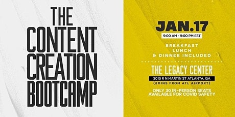 The Content Creation Bootcamp tickets