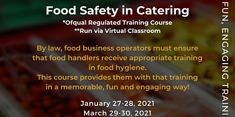 QA Level 2 Award in Food Safety in Catering (RQF) tickets