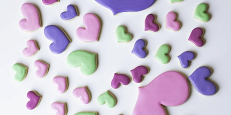 Feb 14 - Will U B My Virtual Valentines Online Cookie Decorating Class tickets