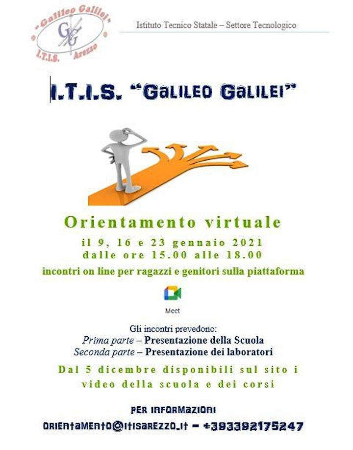 Immagine Orientamento Virtuale - ITIS Galileo Galilei di Arezzo - primo incontro