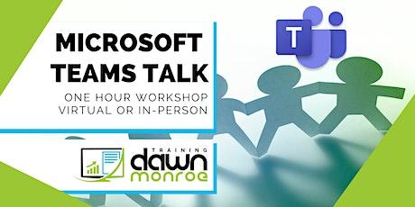 Microsoft Teams Talk tickets