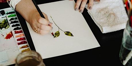 Watercolor Florals Class tickets