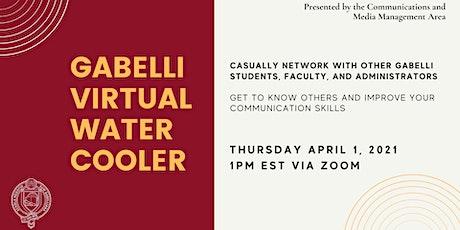 April Gabelli Virtual Water Cooler tickets