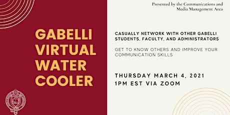 March Gabelli Virtual Water Cooler tickets