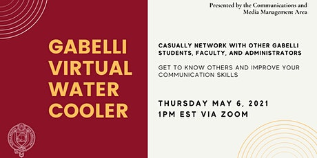 May Gabelli Virtual Water Cooler tickets