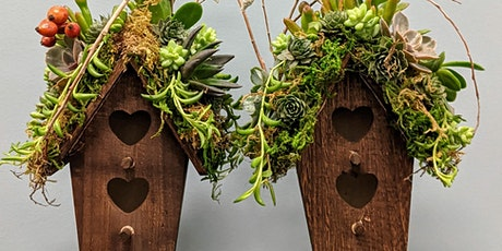 Succulent Topped Birdhouse - USU Garden Member Exclusive Class tickets