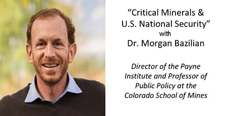 DCFR Online Event: Critical Minerals & U.S. National Security tickets