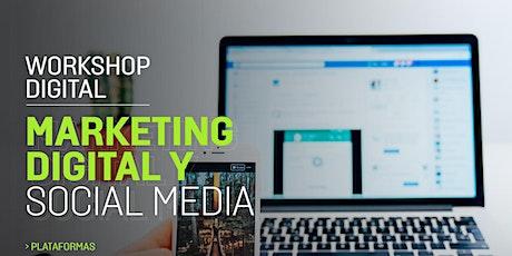 Workshop de marketing digital y social media boletos