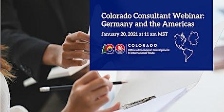 Colorado Consultant Webinar: Germany and the Americas tickets