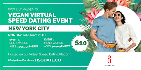 Isodate's LA Vegan Virtual Speed Dating tickets