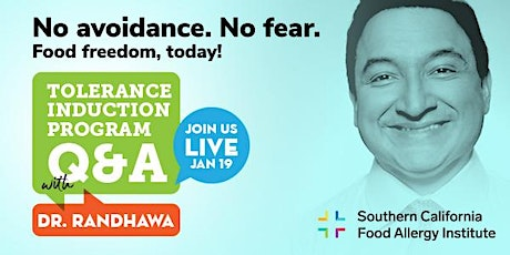 LIVE WITH DR. RANDHAWA: Tolerance Induction Program Q&A tickets
