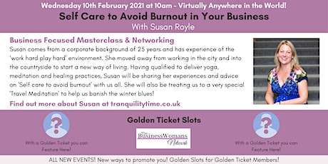 The Business Womans Network (Suffolk) - Self Care to Avoid Business Burnout tickets