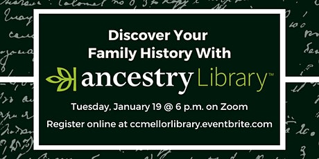 Discover Your Family History with Ancestry Library tickets
