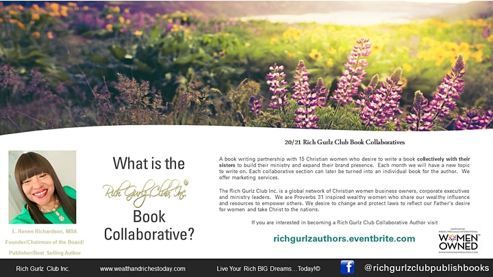 L. Renee invites you to Become a Rich Gurlz Club Collaborative Author! image