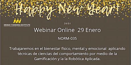 Trabajando felices, saludables y Productivos NOM035 Gamificación y AI. tickets