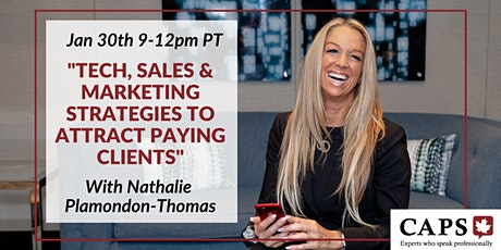 Tech, Sales & Marketing Strategies to Attract Clients  w/ Nathalie (Zoom) tickets