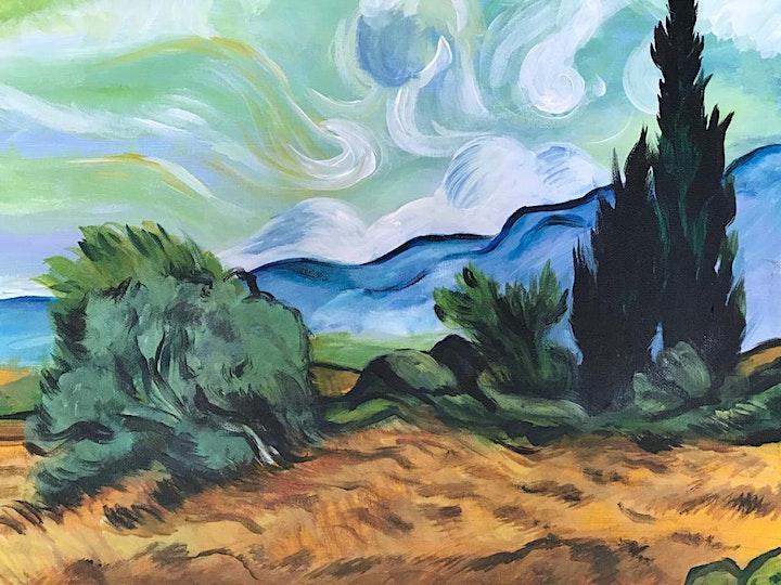 Chill & Paint Sat Night  Auck  City  - Van Gogh Wheatfield! image