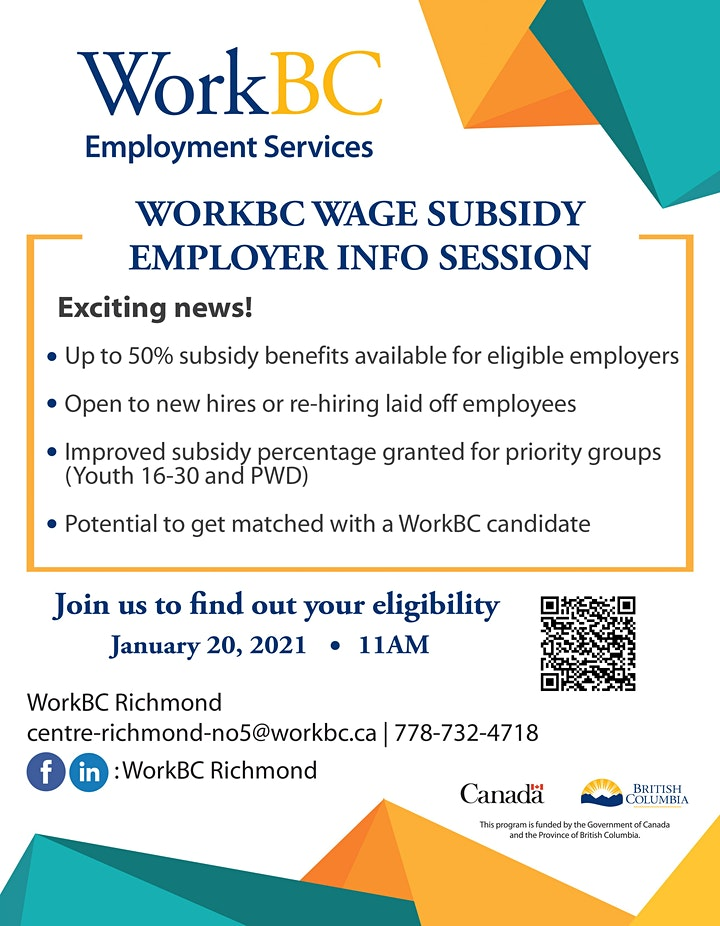 WorkBC Employer Financial Incentive Info Session image