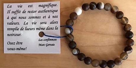 Recevez notre bracelet de courage fait à la main (brun)18.98$ billets