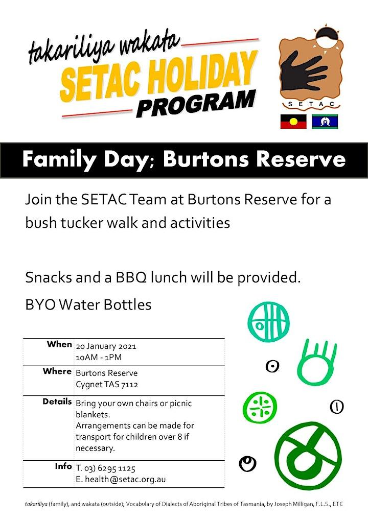 takariliya wakata; Family Day at Burtons Reserve image