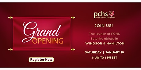 The launch of PCHS Satellite Offices: Windsor & Hamilton tickets