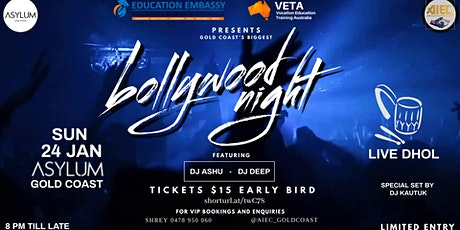 Bollywood DJ Night Gold Coast  SOLD OUT!!!!! tickets