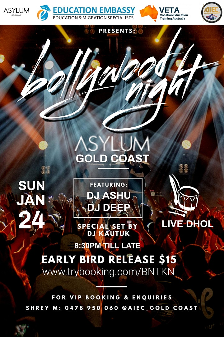 Bollywood DJ Night Gold Coast  SOLD OUT!!!!! image