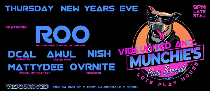 NYE Lets Play House!  Munchies Barcade Downtown Fort Lauderdale image