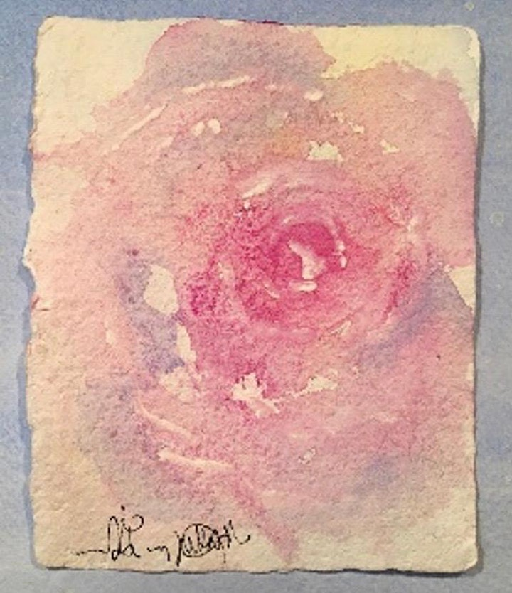 Loose Watercolour Flowers Art Class image