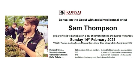 Bonsai on the Coast with Sam Thompson -Demonstration & Workshop Opportunity tickets