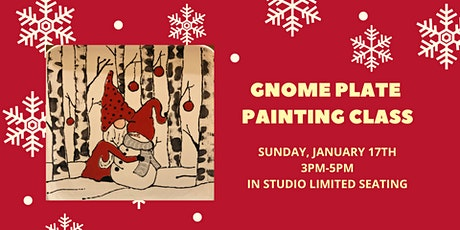Gnome Plate Painting Class tickets