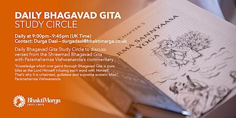 DAILY BHAGAVAD GITA STUDY CIRCLE tickets