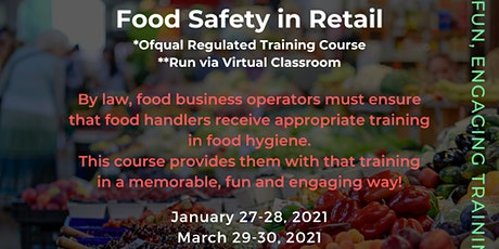 QA Level 2 Award in Food Safety for Retail (RQF) tickets