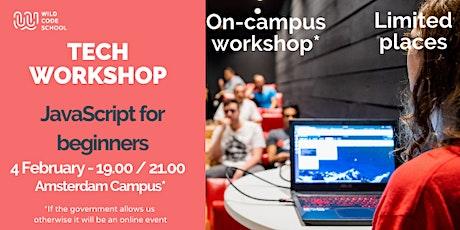 Tech Workshop - JavaScript for beginners tickets