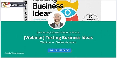[Webinar] Testing Business Ideas tickets