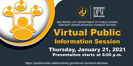 Sanitary Sewer Modified Consent Decree Annual Public Information Session tickets
