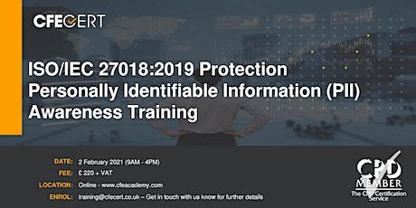 ISO/IEC 27018:2019 PII Awareness Training tickets