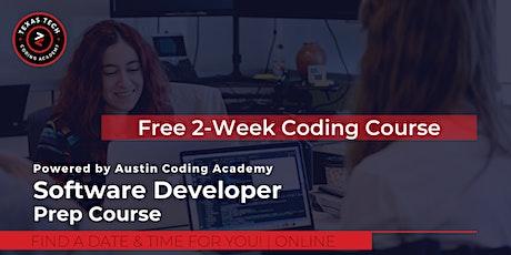 Free 2-Week Software Developer Virtual Prep Course - Texas Tech University tickets