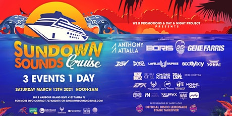 Sundown sounds cruise Tampa bay's Largest floating dance music festival tickets