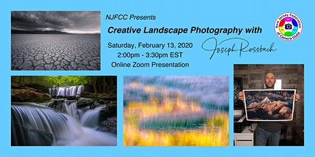 NJFCC Presentation - Creative Landscape Photography with Joseph Rossbach tickets