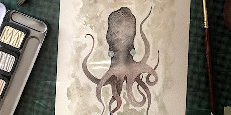 Zentangle® Meets Watercolor - Moody Octopus tickets