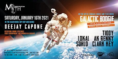 """Galactic Boogie"" at Myth Nightclub | Saturday 01.16.21 tickets"